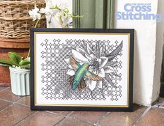 Exclusively by Ajisai Press! This breath-taking design is only in the new issue 231 of The World of Cross Stitching magazine