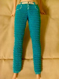 Ravelry: Fashion Doll Embroidered Jeans pattern by Hazel Furst