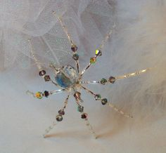 Crystal Spider Ornament and Suncatcher with by Thespiderlady, $9.00