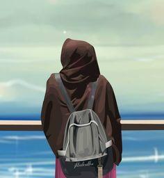 Ya Allah Letakkan Cintaku Hanya Pada Kekasih Halalku . Tak bisa disangkal, manusia akan selalu bersentuhan dengan cinta. Sementara… Muslim Girls, Muslim Couples, Muslim Women, Hijab Dp, Hijab Niqab, Hijab Drawing, Anime Muslim, Hijab Cartoon, Islamic Clothing