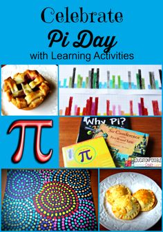 Celebrate Pi Day with Learning Activities @Education Possible Even if you or your kids aren't self-described math geeks, with these hands-on activities, you can still have fun honoring this constant ratio between a circle's circumference and its diameter.