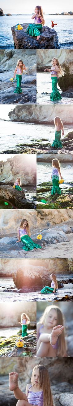 little mermaid photo shoot with Abella's Braids, Carken Design and Lola and Darla