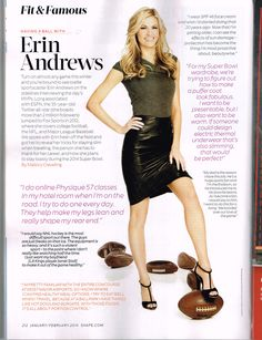 Fit + Famous: Erin Andrews talks to @SHAPE magazine about fitting in workouts while traveling.