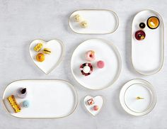 Make Your Sweets & Treats Shine with Our NEW Oro Serveware Collection | LC Living Serveware, White Porcelain, Dinnerware, Sweets, Hand Painted, Shapes, Make It Yourself, Cake, How To Make