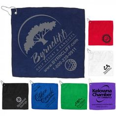 Promotional Microfiber Golf Towel with Metal Grommet and Clip for easy access on and off the golf course. Golf Towels, Foil Stamping, Golf Bags, House, Quilts, How To Plan, Projects, Stampin Up, Quilt