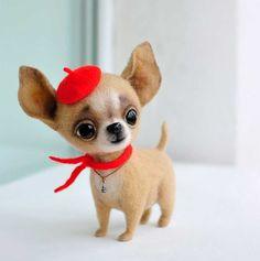 Handgemachte Filzhunde - Zuckersüße Mini-Tiere von MamaDocha: http://www.langweiledich.net/handgemachte-filzhunde/