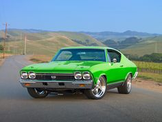 1968 Chevelle... 68 what a great year.. Love the green...