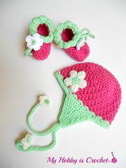 Ravelry: Blooming Strawberry Earflap Hat pattern by Myhobbyiscrochet