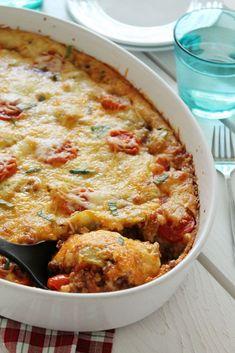 Πίτσα με κιμά στο πυρέξ- ότι πιο λαχταριστό για σήμερα Pizza Casserole, Casserole Recipes, Beef Pizza, Mince Meat, Happy Foods, Meat Lovers, Ground Beef, Carne, Recipies
