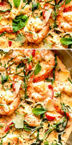 Shrimp Dishes, Fish Dishes, Pasta Dishes, Fish Recipes, Seafood Recipes, Dinner Recipes, Courge Spaghetti, Spaghetti Squash, Kitchen Recipes