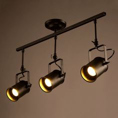 Vintage Ceiling Spot Track Light, MKLOT Adjustable 3-Light Lighting Spot Light with Cone Black Shades,Dark Bronze Finish ** Discover this special product, click the image : home diy lighting