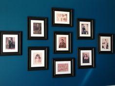 Gallery of ancestors; Sherwin Williams Oceanside blue walls