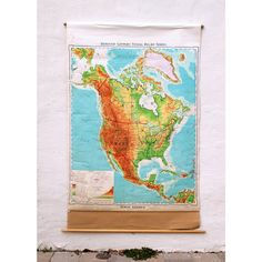 School Map of North America  Denoyer by JustSmashingDarling, $150.00