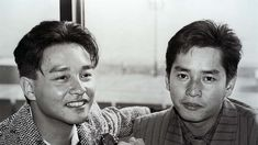 Leslie Cheung Kwok-wing (left) and Alan Tam Wing-lun, the hottest male pop-singers in Hong Kong in Hk Movie, Leslie Cheung, Pop Singers, Rare Photos, Superstar, Actors, My Love, People, Hong Kong
