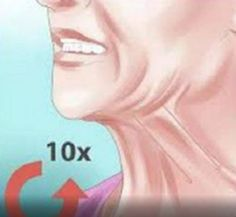 4 tips to know to reduce effective double chin .- 4 tips to know to reduce the double chin (exercises illustrated and remedies) n… Double Chin Exercises, Thigh Exercises, Yoga Fitness, Health Fitness, Face Yoga, Good Massage, Lose Weight Quick, Fitness Photography, Facial Treatment