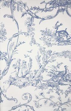 Toile Wallpaper, Luxury Wallpaper, Bathroom Wallpaper, Designer Wallpaper, Pattern Wallpaper, Wallpaper Backgrounds, French Wallpaper, Scenic Wallpaper, Leaves Wallpaper