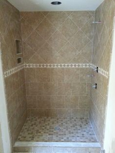 Beau Tile Completed In Shower. Find This Pin And More On Bathroom Remodel Start  ...