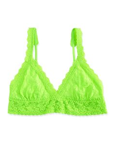 Hanky Panky Signature Lace Crossover Bralette, Apple Green, Women's, Size: M