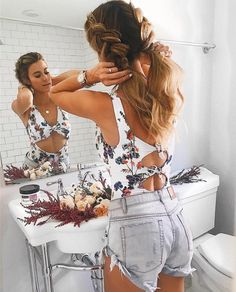 Dual French braids - Most pinned hairstyles from Hello Fashion Boho Hairstyles, Summer Hairstyles, Straight Hairstyles, Waitress Hairstyles For Long Hair, Long Brunette Hairstyles, Beach Hairstyles For Long Hair, Swimming Hairstyles, Long Haircuts, Fashion Hairstyles