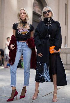 Уличная мода: Уличный стиль Нью-Йорка на неделе моды сезона весна-лето 2017