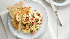Les meilleurs œufs brouillés Brunch, Tacos, Mexican, Ethnic Recipes, Food, Greedy People, Recipe, Meal, Eten