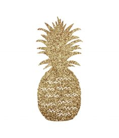 Free Pineapple SVG File from @chicfetti - cut out with your Silhouette or Cricut machine in gold glitter cardstock!