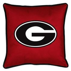 Georgia UGA Bulldogs NCAA Locker Room Bed/Sofa/Couch/Toss Pillows