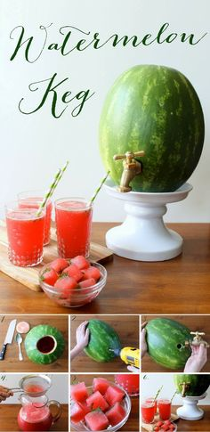 How To Make A Watermelon Keg ~ add a splash of fun to your next get-together.