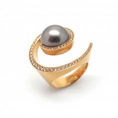 Angela Hubel - Rose Gold & Brilliant Galaxy Ring - ORRO Contemporary Jewellery Glasgow