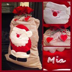 Handmade Personalised Christmas Santa Sacks