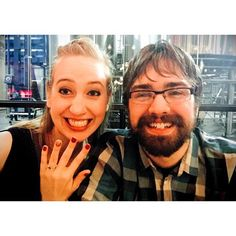 Congratulations to Britta and Jake on their engagement! Jake customized a braided solitaire to hold a Blue Topaz center stone and it turned out gorgeous!