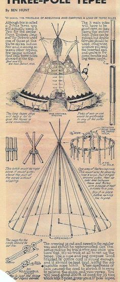 Three Pole Tepee Construction #Survival #Preppers