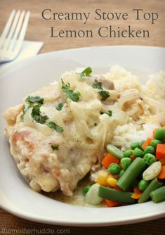 Creamy Stove Top Lemon Chicken