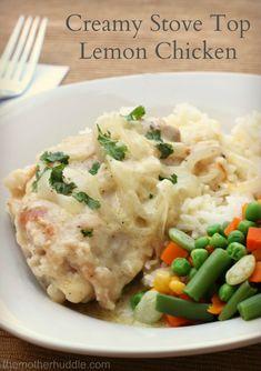 Creamy Stove Top Lemon Chicken