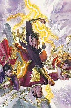 Black Adam vs Marvel Family - Alex Ross