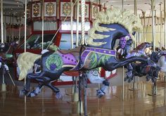 """I think of Carousel Horses as """"art"""".  They are so lovely and magical  ♥"""
