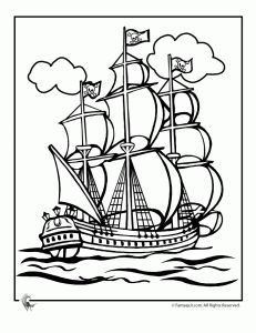 Pirate Party! Pirate coloring page printables