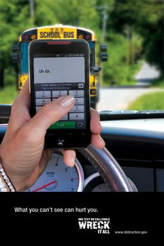 Don't be a distracted driver. Don't text and drive. #drivesafeNJ