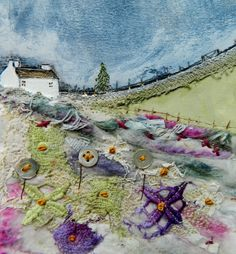 ''Echoes of spring in the valley'' by Louise O'Hara of DrawntoStitch https://www.etsy.com/uk/shop/Drawntostitchdotcom