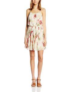 Vestido hipster mujer sin mangas con diseño estampado floral en color crudo, ideal para esta primavera - verano.