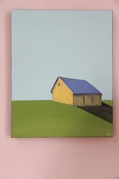Yellow barn painting