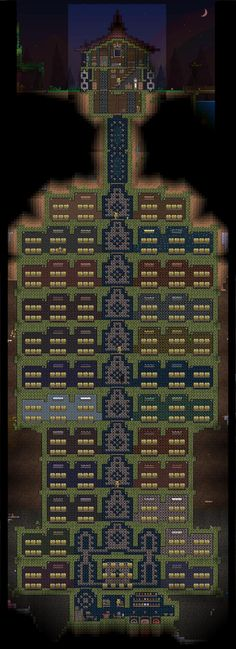 Serious Terraria storage area. I really need one of these.