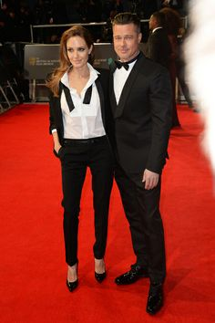 Angelina Jolie, Brad Pitt. / Celebridades iluminan la red carpet de los premios BAFTA 2014