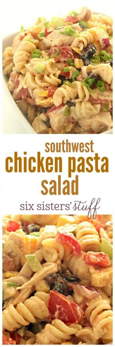 Southwest Chicken Pasta Salad from SixSistersStuff.com