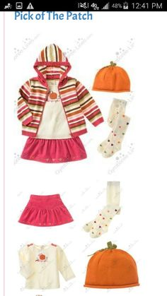 Fall 2006 'Mix & match' line Have the pumpkin shirt and tights in 18-24