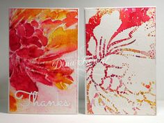 +/- Stencil with Brusho by dini - Cards and Paper Crafts at Splitcoaststampers