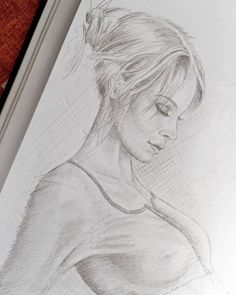 Skizze Frau von der Seite Realistic Pencil Drawings, Love Drawings, Art Drawings, Figure Sketching, Figure Drawing, Steve Jobs, Pencil Sketch Portrait, Beauty Art, Pictures To Draw