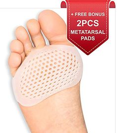 Metatarsal Pads Ball of Foot Cushions Designed by Brison 2 Pieces - Soft Gel Ball of Foot Pads - Mortons Neuroma Callus Metatarsal Foot Pain Relief Bunion Forefoot Cushioning Relief Women Men Hammer Toe Correction, Morton's Neuroma, Sims, Foot Pain Relief, Foot Reflexology, Bunion, Foot Pads, Feet Care, Cool Things To Buy