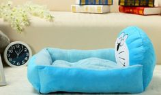 Washable Kennel Cartoon Pet Mat Bed Cat Puppy Dog M/L Soft Lovely