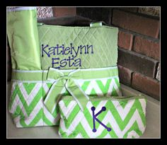 Chevron Diaper Bag Personalized Diaper Bag by PalettePerfect